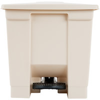 Rubbermaid FG614300BEIG Beige Rectangular Plastic Step-On Container 8 Gallon
