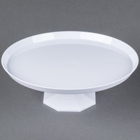 Fineline Platter Pleasers 3600-WH 9 3/4 inch Two-Piece White Cake Stand - 12/Case
