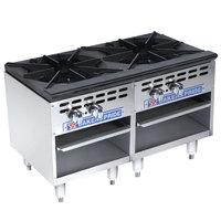 Bakers Pride Restaurant Series BPSP-36-3-D Liquid Propane Two Burner Side-by-Side Stock Pot Range