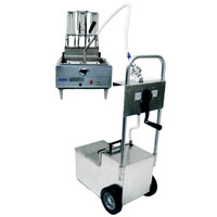 MirOil HOS0800 85 lb. Fryer Oil Hand Operated Filter Machine and Discard Trolley - Countertop