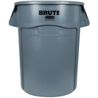 Rubbermaid FG264300GRAY BRUTE 44 Gallon Gray Trash Can