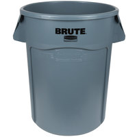 Rubbermaid FG264360GRAY BRUTE 44 Gallon Gray Trash Can