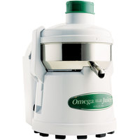 Omega J4000 Juicer with White Finish and Pulp Ejection - 5,200 RPM
