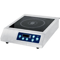 Eurodib FIH-02SS Stainless Steel Countertop Induction Range with Push Button Controls - 208/240V