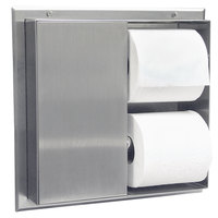 Bobrick B-386 Partition-Mounted Multi-Roll Dual Sided Toilet Tissue Dispenser