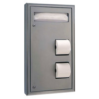 Bobrick B-3479 ClassicSeries Surface Mounted Seat Cover Dispenser and Toilet Tissue Dispenser