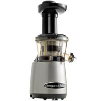 Omega VRT400HDS Silver and Black Vertical Masticating Juicer - 120V, 150W