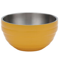 Vollrath 4659145 Double Wall Round Beehive 3.4 Qt. Serving Bowl - Nugget Yellow