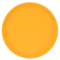 Cambro 1950171 19 1/2 inch Low Profile Round Tuscan Gold Customizable Fiberglass Camtray - 12/Case