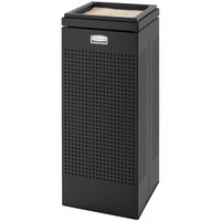 Rubbermaid FGSCSUTBK Silhouettes Black Square Steel Sand-Top Urn