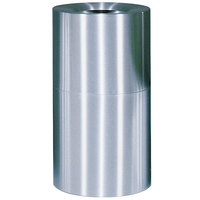 Rubbermaid AOT35 Atrium Satin Finish 2-Piece Round Open Top Aluminum Waste Receptacle with Galvanized Steel Liner 21 Gallon (FGAOT35SAGL)