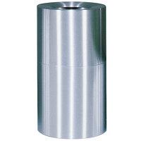 Rubbermaid FGAOT35SAGL Atrium Satin Finish 2-Piece Round Open Top Aluminum Waste Receptacle with Galvanized Steel Liner 21 Gallon