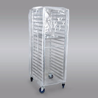 Clear Bun Pan Rack Cover - 10 Mils