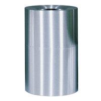 Rubbermaid FGAOT62SA Atrium Satin Finish 2-Piece Round Open Top Aluminum Waste Receptacle 55 Gallon