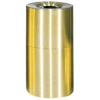 Rubbermaid FGAOT62SB Atrium Satin Brass 2-Piece Round Open Top Aluminum Waste Receptacle 55 Gallon