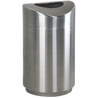Rubbermaid FGR2030SSPL Eclipse Round Open Top Stainless Steel Waste Receptacle with Rigid Plastic Liner 30 Gallon