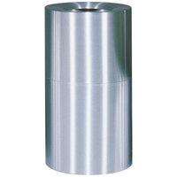 Rubbermaid FGAOT35SA Atrium Satin Finish 2-Piece Round Open Top Aluminum Waste Receptacle 35 Gallon