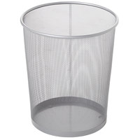 Rubbermaid FGWMB20SLV Concept Collection Silver Round Mesh Steel Wastebasket 5 Gallon