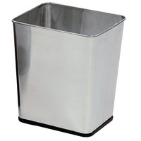Rubbermaid FGWB29RSS Concept Collection Rectangular Stainless Steel Wastebasket 7.25 Gallon