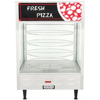 Nemco 6452 Single Door Rotating 4-Tier Pizza Merchandiser with 18 inch Racks - 120V
