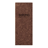 Menu Solutions CO600BA-DB 4 1/4 inch x 11 inch Customizable Dark Cork Single View Menu Cover