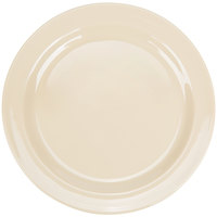 Thunder Group NS107T Nustone Tan 7 1/4 inch Narrow Rim Melamine Plate - 12/Pack