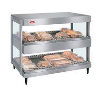 Hatco GRSDH-60D Glo-Ray 60 inch Horizontal Double Shelf Merchandiser
