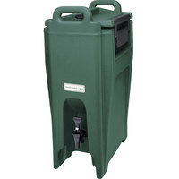 Cambro UC500192 Ultra Camtainer 5.25 Gallon Granite Green Insulated Beverage Dispenser