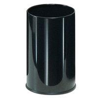 Rubbermaid UB1900EBK Black Round Steel Wastebasket 5 Gallon