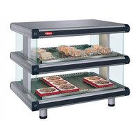 Hatco GR2SDH-42D Glo-Ray Designer 42 inch Horizontal Double Shelf Merchandiser