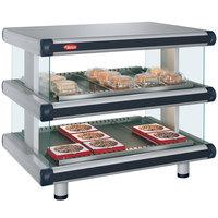 Hatco GR2SDH-54D Glo-Ray Designer 54 inch Horizontal Double Shelf Merchandiser - 120/240V
