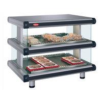 Hatco GR2SDH-24D Glo-Ray Designer 24 inch Horizontal Double Shelf Merchandiser - 120V