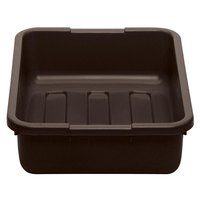 Cambro 21155CBP131 Cambox 21 inch x 15 inch x 5 inch Dark Brown Polyethylene Plastic Bus Box with Ribbed Bottom