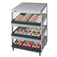 Hatco GRSDS-36T Glo-Ray 36 inch Slanted Triple Shelf Merchandiser