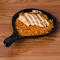CAC FP-18-BLK Festiware 10 inch x 8 1/4 inch Black Fry Pan Plate - 12/Case