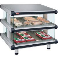 Hatco GR2SDS-54D Glo-Ray Designer 54 inch Slanted Double Shelf Merchandiser - 120/240V