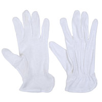 San Jamar 5312-WH-L Large White Waiter's Gloves