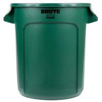 Rubbermaid FG261000DGRN BRUTE Green 10 Gallon Trash Can