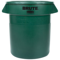 Rubbermaid BRUTE FG261000DGRN Green 10 Gallon Trash Can