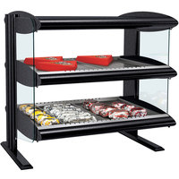 Hatco HXMH-30D LED 30 inch Horizontal Double Shelf Merchandiser - 120/240V