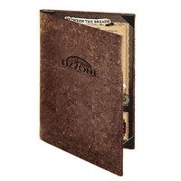 Menu Solutions CO620D-DB 8 1/2 inch x 14 inch Customizable Dark Cork 2 View Menu Cover
