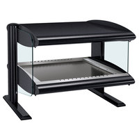 Hatco HZMH-60 Black 60 inch Horizontal Single Shelf Heated Zone Merchandiser - 120V