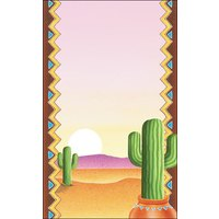 8 1/2 inch x 14 inch Menu Paper - Southwest Themed Cactus Design Cover - 100/Pack