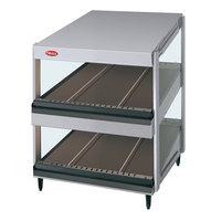 Hatco GRSDS-52D Glo-Ray 52 inch Slanted Double Shelf Merchandiser - 120/208V