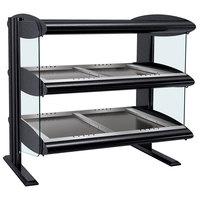 Hatco HZMH-54D Black 54 inch Horizontal Double Shelf Heated Zone Merchandiser - 120/240V