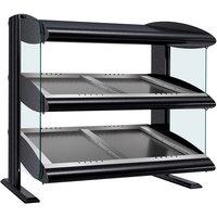Hatco HZMS-30D Black 30 inch Slanted Double Shelf Heated Zone Merchandiser - 120/208V