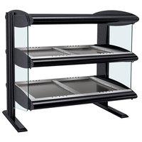 Hatco HZMH-48D Black 48 inch Horizontal Double Shelf Heated Zone Merchandiser - 120/240V