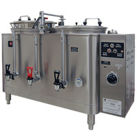 Grindmaster 77710E Twin 10 Gallon Automatic Mid Line Coffee Urn - 120/208V, 1 Phase
