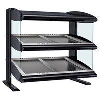 Hatco HZMS-60D Black 60 inch Slanted Double Shelf Heated Zone Merchandiser - 120/240V