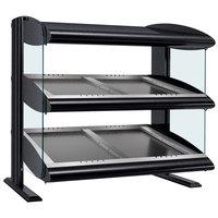 Hatco HZMS-48D Black 48 inch Slanted Double Shelf Heated Zone Merchandiser - 120/240V